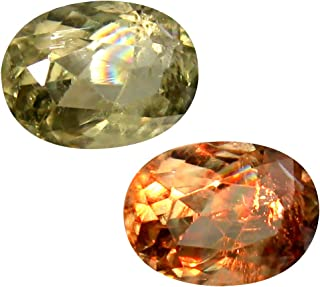 Deluxe Gems 2.04 ct Oval Cut (9 x 7 mm) Unheated/Untreated Turkish Color Change Diaspore Natural Loose Gemstone