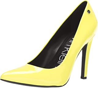 fluorescent yellow shoes