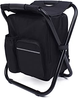 We Moment Folding Portable seat Backpack Fishing Cooler Beach Chair for Camping, Fishing, Watching Sports Events, Tailgating, Hiking, Picnics,Outdoor Lightweight Backpack Foldable Chair