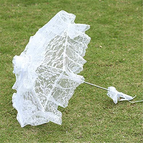 XKMY Paraguas de boda nupcial, accesorios de estudio, paraguas de fotos, suministros de boda, paraguas de encaje blanco, paraguas de boda, paraguas exterior (color: A)