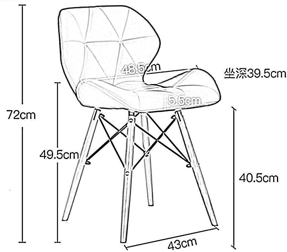 LAZ Chaise à dîner Design Moderne siège en Bois Massif rembourré avec Dossier, Jambes en Bois Naturel (Couleur : Blanc) Bleu