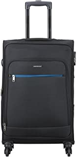 Aristocrat Nile Polyester 66 cms Black Suitcase (STNILW66BLK)(26 inch)