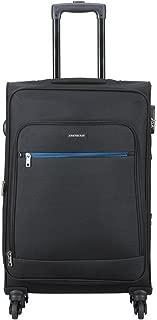 Aristocrat Nile Polyester 66 cms Black Suitcase (STNILW66BLK)