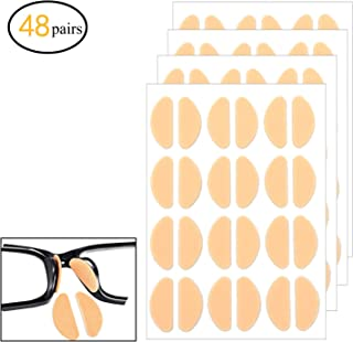48 Pairs Soft Foam Nose Pads, Self-Adhesive Anti-Slip Eyeglass Nose Pads, Thin Nosepads for Eyeglasses Sunglasses Glasses