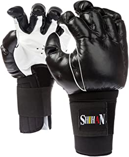 SHIHAN POWER-SPORTS Bong SAU - Genuine Leather 1 Size Senior Kempo, Grappling, Chinese Boxing Combat Gloves Hand Crafted