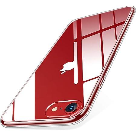 【Humixx】 iPhone SE 用ケース 第2世代 iPhone8 ケース iPhone7 ケース 2021年新型 薄型 高透明 耐衝撃 米軍MIL規格 ガラスフィルム付き レンズ保護 滑り止め 軽い 透明(iPhone 7/8/SE 4.7インチ)[Skin Series]
