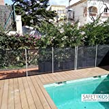 Valla de seguridad para piscinas. Protege a los niños y mascotas. Transparente, adaptable y desmontable. Se vende por tramos de 2m-3m-4m y 5m de largo por...