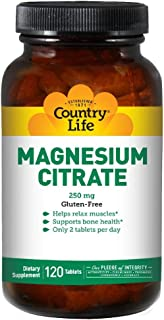 Country Life Magnesium Citrate 250 mg Tablets 120's