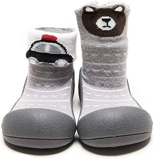 [Attipas] アティパス ベビーシューズ [ 2STYLE ] / かわいいベビーシューズ 滑り止め 公園遊び 出産祝い プレゼント あんよの練習 保育園靴 ソックスシューズ プレシューズ 室内履き 女の子