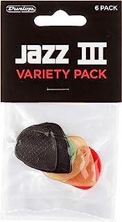Dunlop PVP103 Jazz III Pick Variety Pack Six (6) Picks