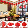 Chinese New Year Decorations(52 PCS)- Red Envelopes Paper Red Lanterns Chinese Couplets Spring Festival Couplets Fu NIU Chinese Fu Character Static Electricity Paper Window #3