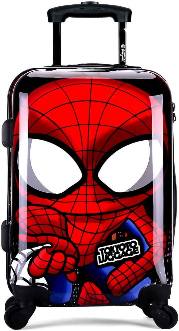 TOKYOTO - Maleta de Cabina Equipaje Infantil Niños Spider Boy, 55x40x20 cm   Maleta Juvenil, Trolley de Viaje Ryanair, Easyjet   Maleta de Viaje Rígida