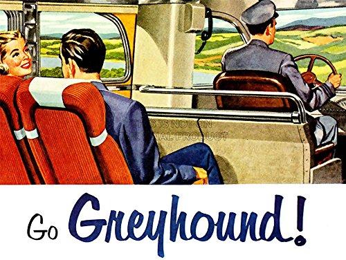 Wee Blue Coo Prints TRAVEL Transport Bus Service America USA Driver Passenger Poster 30X40 cm 12X16 IN Print Reise BEDIENUNG Amerika Vereinigte Staaten von Amerika Fluss