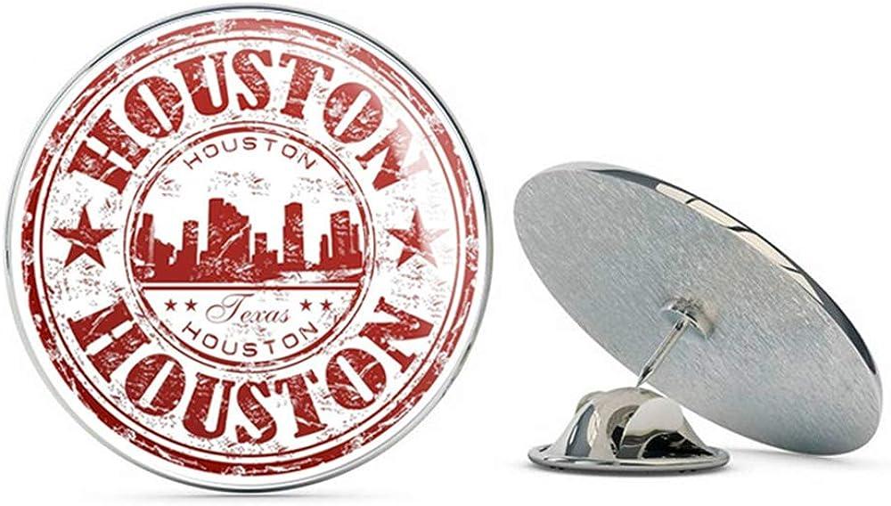 Houston Texas USA Round Metal 0.75