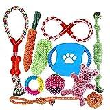 Angelland Grupo de Juguetes para Perros Durable Masticable Cuerda...