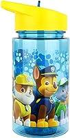P:os 28230 – drickflaska för barn, ca 450 ml, transparent design med Paw Patrol-motiv och integrerat sugrör för...