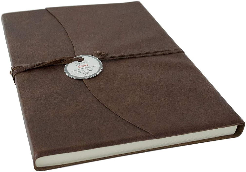 LEATHERKIND Capri Leder Notizbuch Schokobraun, A4 Liniert Seiten - Handgefertigt Handgefertigt Handgefertigt in Italien B01I5KOTKS | Discount  7ac284