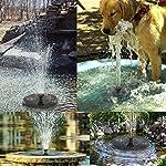 Solar Fountain Pump, Free Standing 1.4W Bird Bath Fountain Pump for Garden and Patio, Solar Panel Kit Water Pump (4 Nozzle) 12