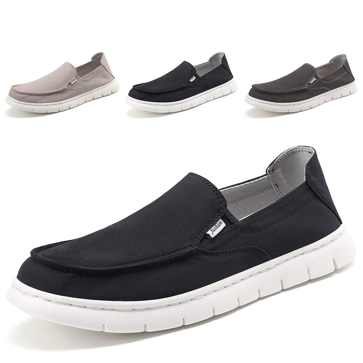 SONLLEIVOO Mens Deck Shoes Slip on