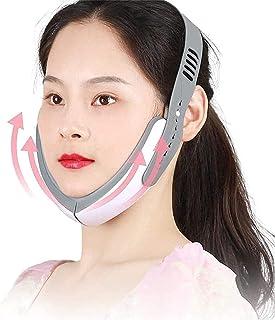 Qjkmgd Elektrische V Face Shaping Massager LED Photon Therapie Micro Huidige Gezicht Afslanken Vibration Hot Compress Mass...