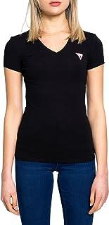 Guess Donna T-Shirt Logo Frontale Nero Mod. W1GI17 J1311