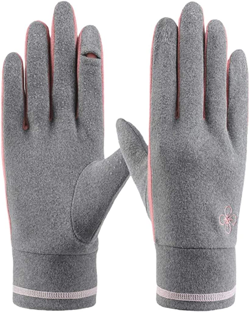Women Winter Warm Gloves, Fingertip Cover Driving Non- Mittens