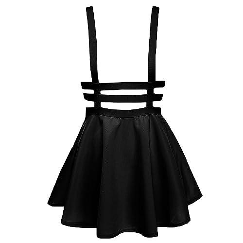 02d5df2886 Urba Ncoco Ladies Girl A-Line Straps Mini Pleated Hosenträger Skirt