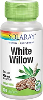 Solaray White Willow Bark 400mg | Scientifically Studied Herb | May Help Support Healthy Physical & Psychological Stress R...