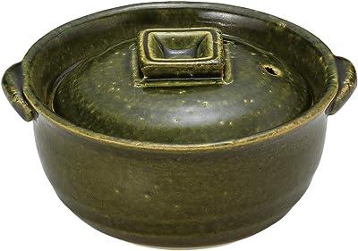 山下工芸 土鍋 陶器 14.5×φ13×8.5cm(身6.7cm) 織部4号深鍋 15034400