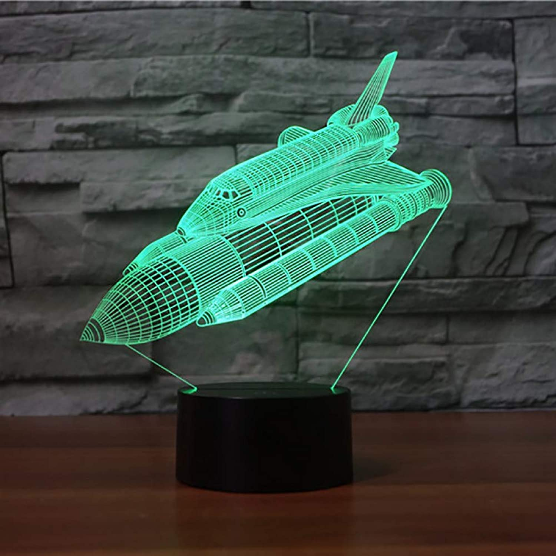 Laofan 3D Schlafzimmer Dekor Bunte Steigung Rockets Nachtlichter Led Stimmung Touch Taste Schreibtischlampe USB Vision Baby Schlaf Beleuchtung Geschenke,Remote und berühren