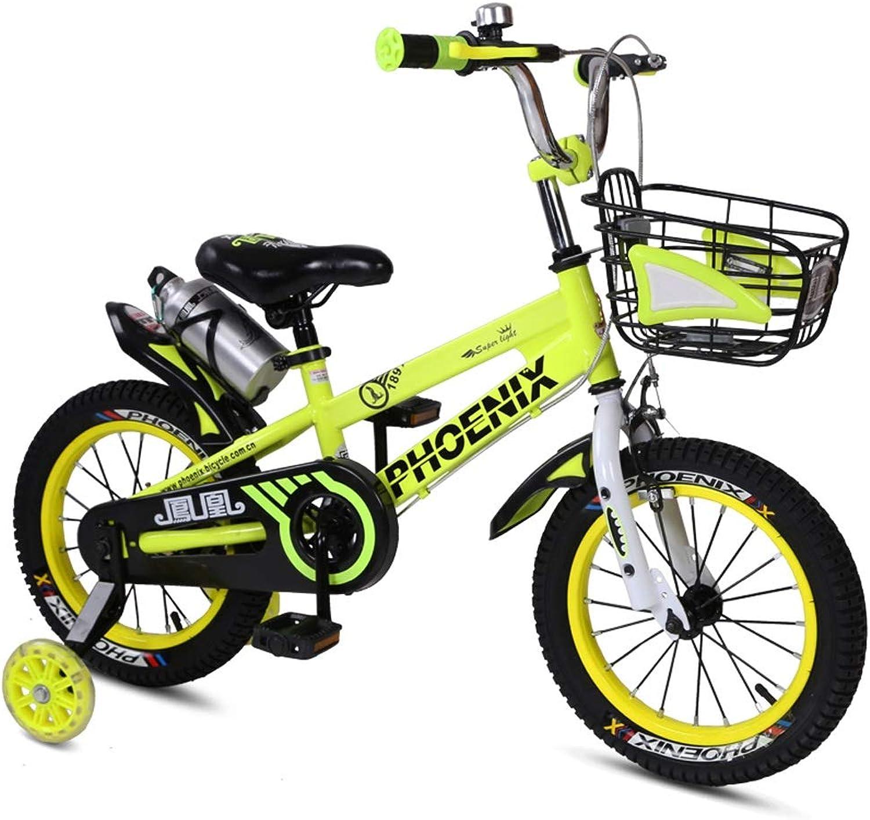 alta calidad Fenfen Bicicletas para Niños, Bicicleta para Niños de 2 a a a 8 años, Triciclo para Niños, Pedal niñas, Marco de Acero al Cochebono, 3 tamaños (12 Pulgadas   14 Pulgadas   16 Pulgadas) verde  envío gratuito a nivel mundial