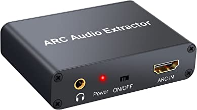 CAMWAY 192KHz HDMI ARC Audio Adapter Digital to Analog SPDIF RCA Converter Extractor 3.5mm Jack Audio Headphone Adapter TV