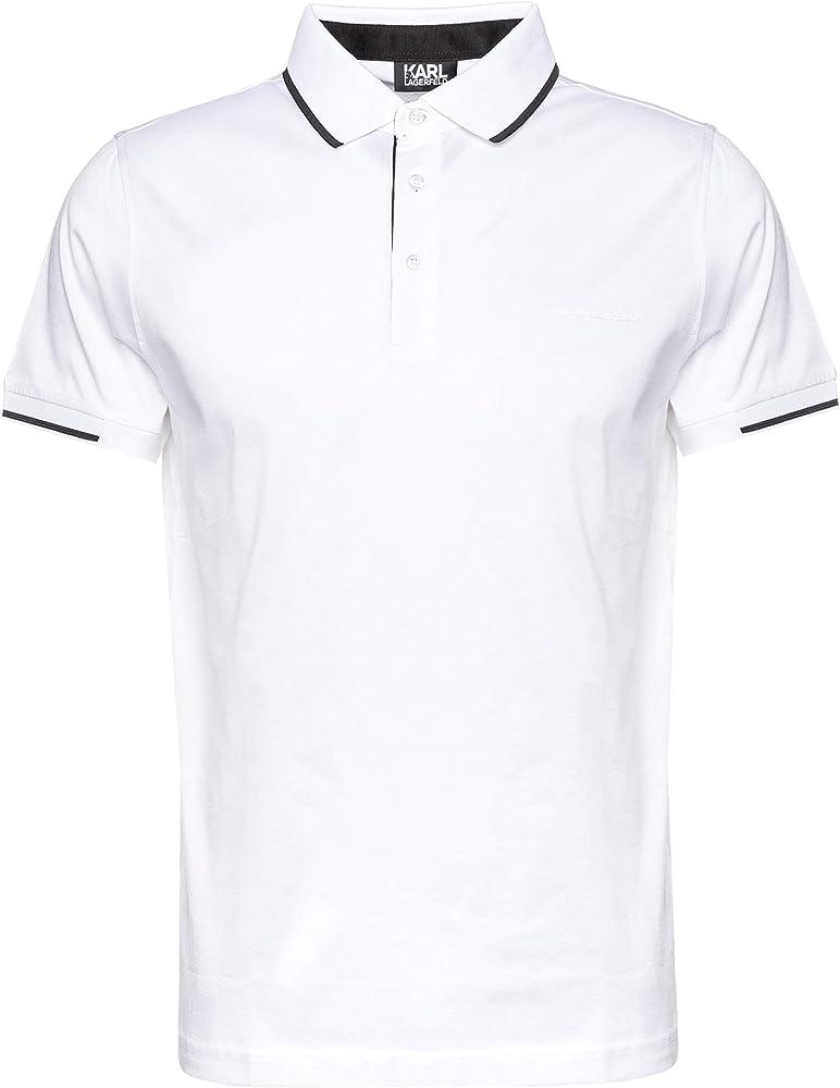karl lagerfeld polo,maglietta per uomo, 100% cotone,taglia m 755001-501200