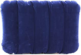 Zakheza Velvet Blow up Travel Large Navy Blue Inflatable Air Pillow Cushion (Set Of1)