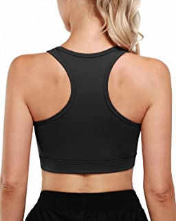Promover Women Racerback Sports Bra Seamless Padded Wirefree Yoga Workout Top