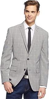 Sport Coat Light Grey Seersucker Glen Plaid Slim Fit