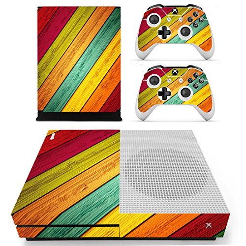 GOZAR Designer Skin voor XBOX ONE S Gaming Console + 2 Controller Sticker Decal