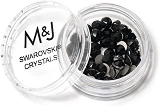black swarovski crystals