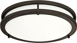 LB72166 LED Flush Mount Ceiling Light, Oil Rubbed Bronze, 16-Inch, 23W, (120W..