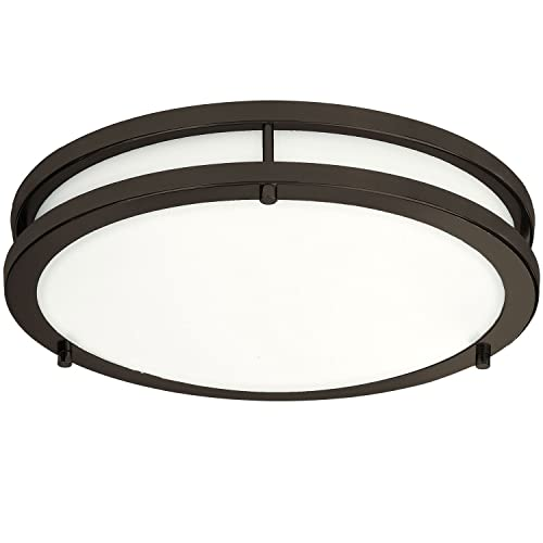 Lb72121 12 Inch Led Flush Mount Ceiling Light Oil Rubbed Bronze 4000k Cool