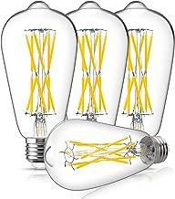 Dimmable Vintage 100 Watt LED Edison Light Bulb, DORESshop 10W ST64(ST19) Antique LED Filament Light Bulb, Warm White 2700K, 1000LM, E26 Base Squirrel-Cage Antique Lamp for Home Decor, 4Pack