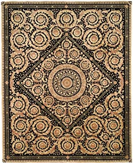 Safavieh Handmade Couture Florence Royal Crest Beige/Black Wool Area Rug (China) - Multi - 4' x 6'