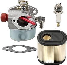 Milttor 640350 Carburetor with Air Filter Spark Plug for Tecumseh LEV100 LEV105 LEV120 LV195EA LV195XA Carb 640303 640271 ...