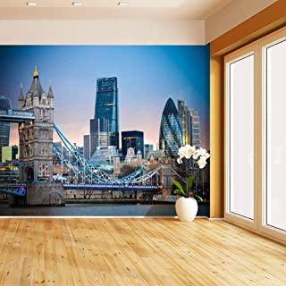amazing london skyline with tower bridge during sunset bridge at Self Adhesive Peel and Stick Wallpaper Self Stick Mural Photos Home Wall Paper Sticker Wall Mural Decals Fresco Posters Removable