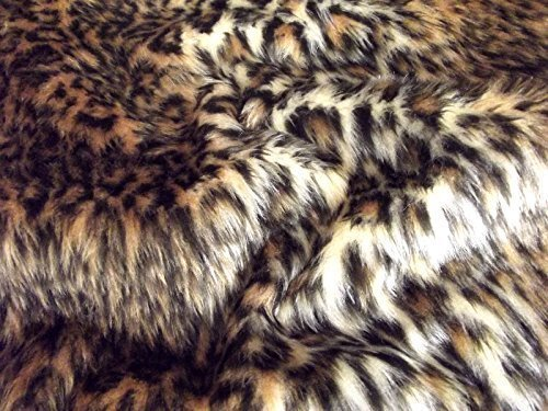 CRS Fur Fabrics Material de la Tela de la Piel sintética de la diversión, acrílico, Leopardo Bebé, 1Mtr - 150cm x 100cm