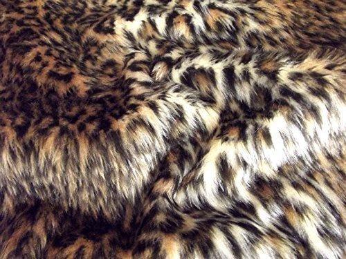 CRS Fur Fabrics Animal Fun Kunstfell Stoff Material–Baby Leopard
