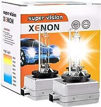 D1S/D1R/D1C HID Bulb 6000K 35W Xenon HID Headlight Replacement Bulb 3200LM Diamond White High Beam Low Beam VIMEN 12V Car Headlight Lamps - 2 Yr Warranty - Pack of 2