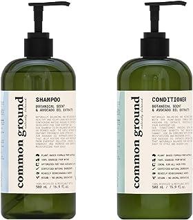 Common Ground Natural Shampoo and Conditioner Set; Paraben and Cruelty Free, Organic, Vegan, Plant-Based Formula, Botanica...
