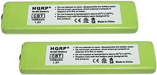 HQRP 2-Pack Gumstick Battery Works with Sony NC-5WM, NC-6WM, WM-701C, 1-528-231-11, WM-RX707, WM-F100, WM-FX675