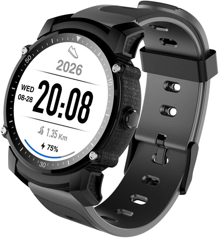 Hswt Smart Watch und Tracker mit Herzfrequenzüberwachung IP68 wasserdicht 3GAndroid-System SIM Karte Geographisches Positionierungs System drahtlos online für Android und iOS,schwarz
